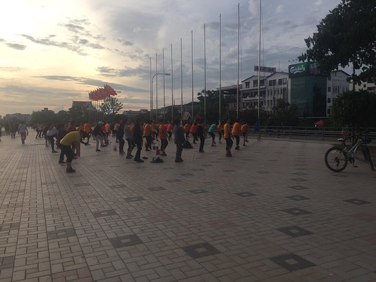 Vientiane, Laos: Evening sport time