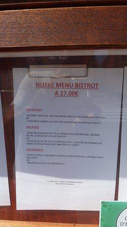 Condom, France : menu van 27 euro