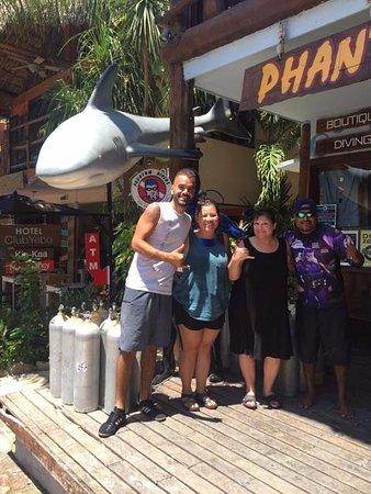 Phantom Divers: Ivan (Instructor), Kimberly, Terry, Primo (Dive Master)