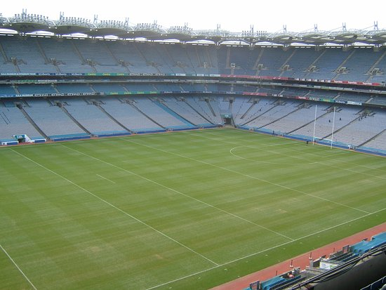 Etihad Skyline Tour Croke Park Stadium: View of the pitch from the upper Hogan stand