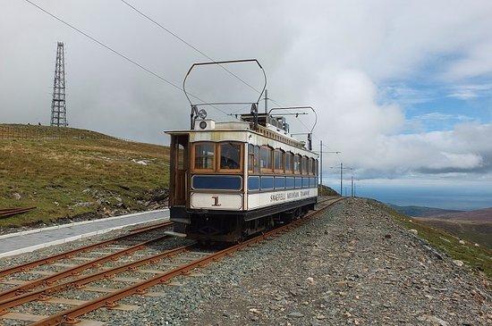 Douglas, UK: Snaefell Mountain Railway at the Summit.
