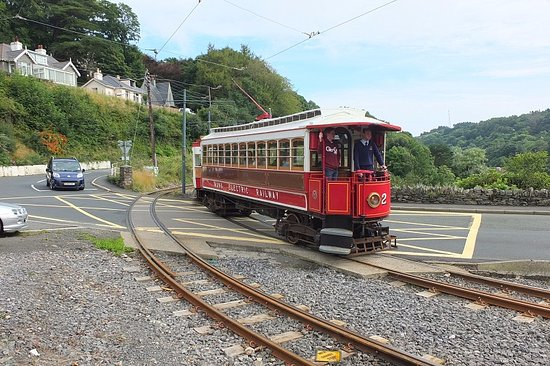 Douglas, UK: Manx Electric Railway at Laxey.