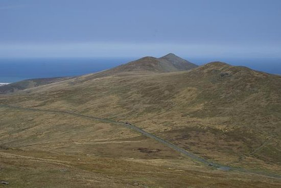 Laxey, UK: The Mountain Road from Snaefell Summit.