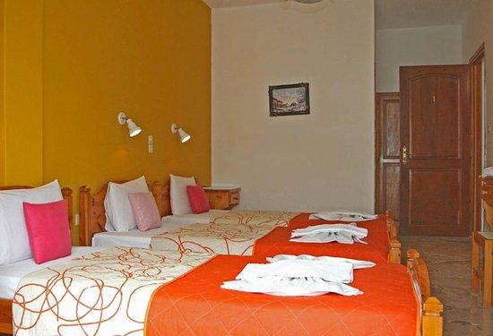 Vassiliki Rooms : Chambre initialement réservée (donc pas celle attribuée à l'arrivée)