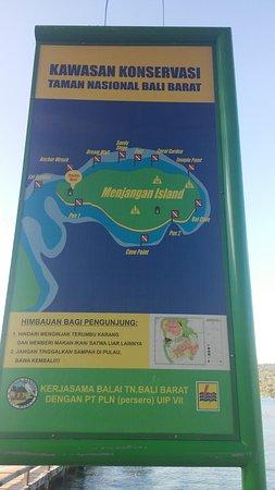 Pemuteran, Indonésia: Peta wilayah diving di Pulau Menjangan