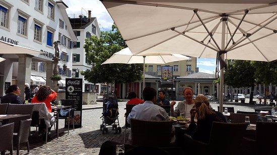Hotel St. Gotthard: Outside of Hotel....Restaurant