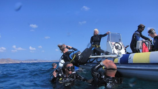 Blue Fin Divers Naxos Greece: Boat