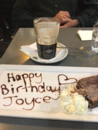Loganholme, Australien: personalised birthday desert... lovely surprise