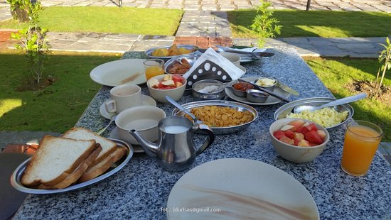 Balthali, Nepal: breakfast by menu