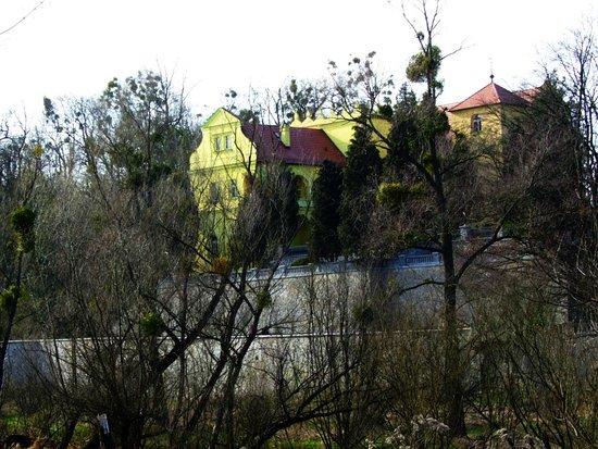 Krapkowice, Polen: Widok na zamek od strony starorzecza Odry