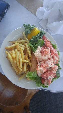 Barnstable, MA: Lunch at Mattakeese Wharf...Lobster Roll was over the top. Best I have seen for $28