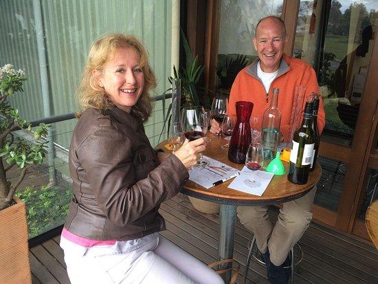 Pokolbin, Austrália: First Creek wine blending