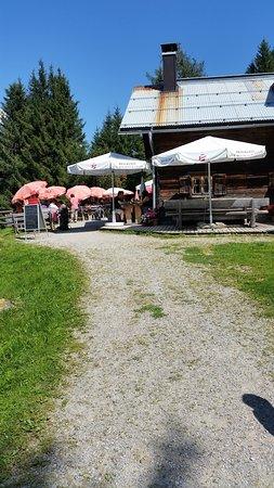 Rinn, Áustria: Angekommen nach 90 Minuten Wanderung