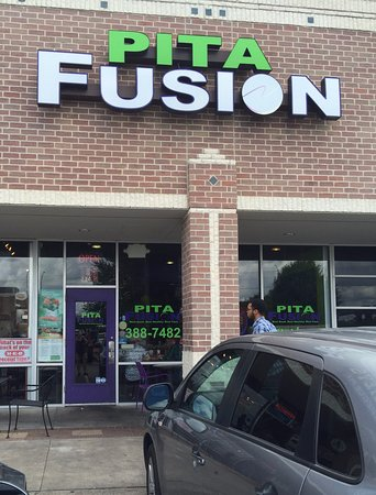 Round Rock, TX: Pita Fusion, view from parking lot