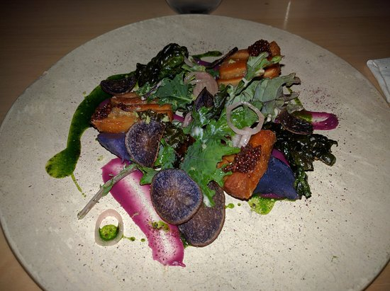 Commonwealth - San Francisco: pork belly, peruvian potato and red cabbage