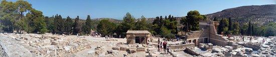 Knossos Archaeological Site: Pohled na vykopávky