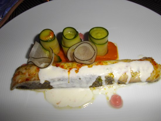 Limoux, Frankrike: poisson et son accompagnement