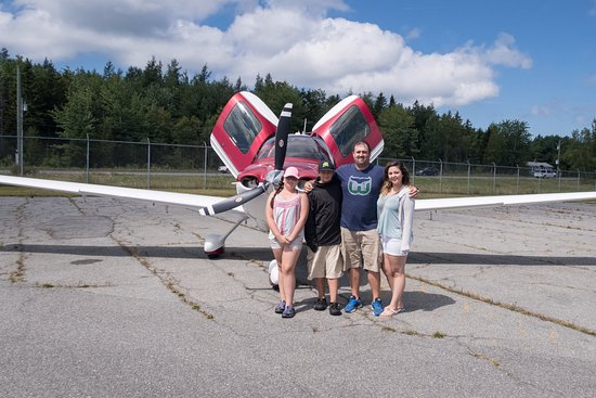 Trenton, ME: My family at the air strip