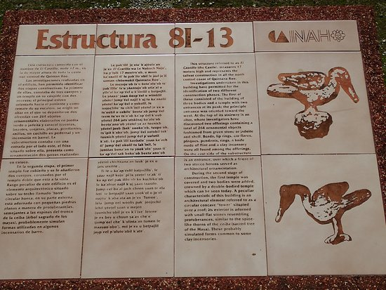 Quintana Roo, Mexico: Great information in three languages, better marked than Chichen Itza