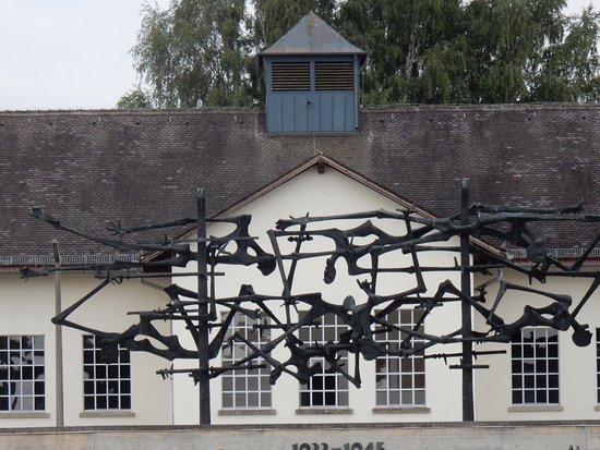 Inside Dachau grounds