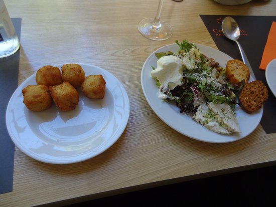 Cheese Me: Croquettes and Caesar salad