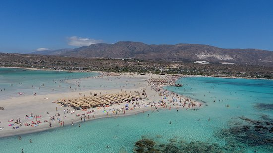 Elafonissi z lotu ptaka - Picture of Elafonissi Beach ...