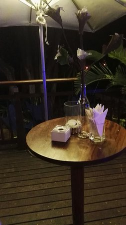 Tamarina Golf & Spa Boutique Hotel: Repas au Tamarina Golf & Resort