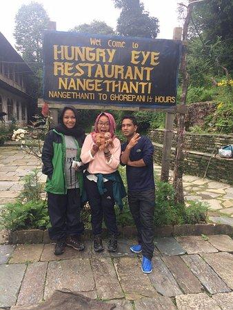 Kathmandu Valley, Nepal: in Hungry Eye Restaurant, Nangethanti