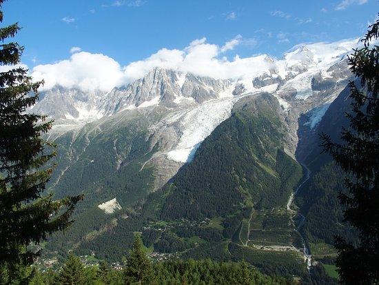 Les Houches, Frankrijk: Vue sur le massif du Mont-Blanc