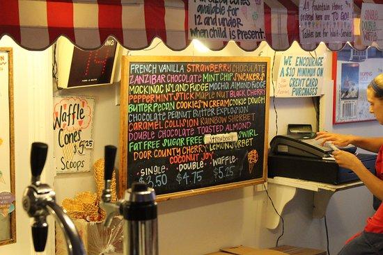 Ephraim, WI: The ice cream select