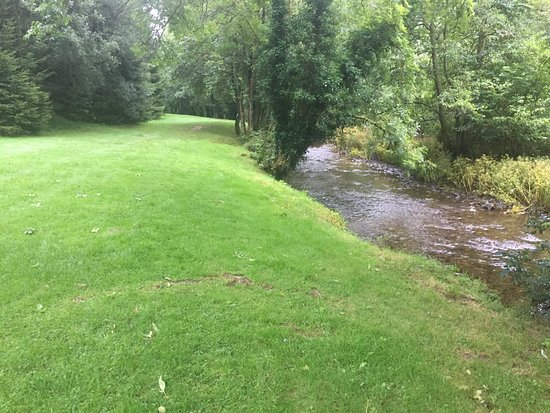Dulverton, UK : The river in the dog walk area