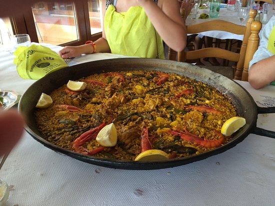 Parcent, Spain: Paella mixta