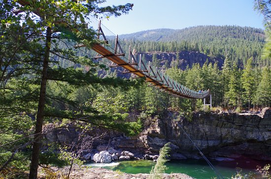 Libby, MT: Swinging Bridge at Kootenai Falls