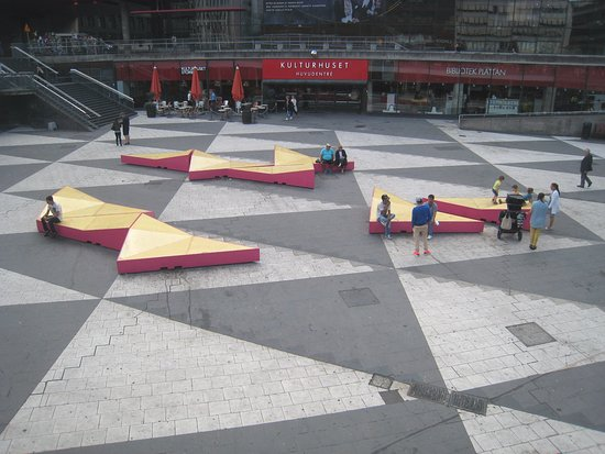 Recessed area with loungers picture of sergels torg for Recessed area