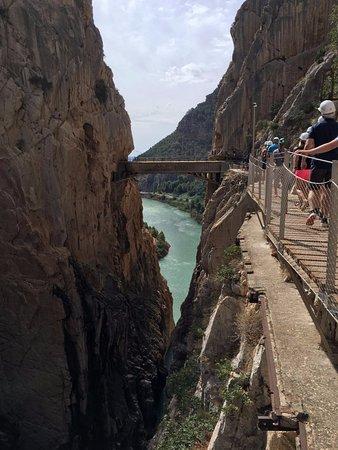 El Chorro, Испания: Puente colgante.