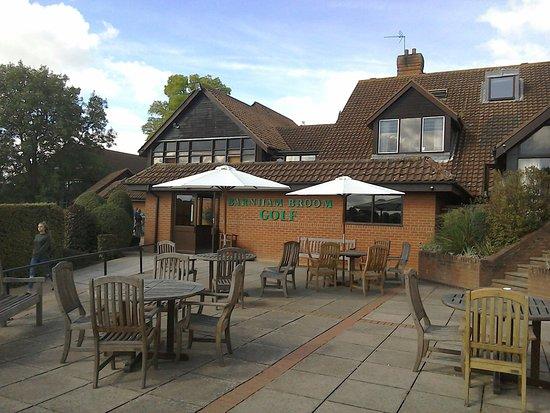 Barnham Broom, UK: Outside patio