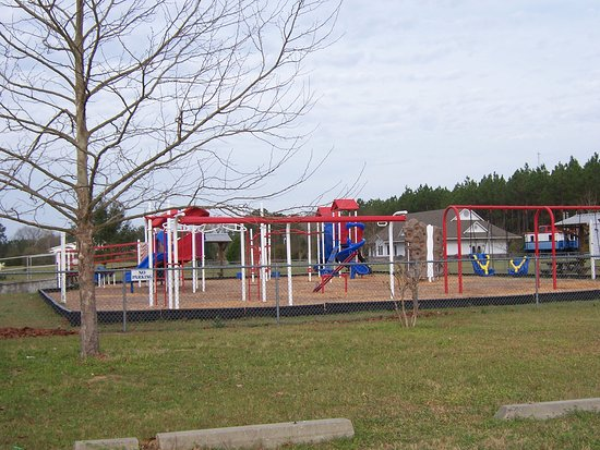 Playground at Veterans Memorial Railroad.