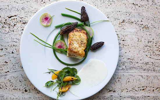 Eastsound, WA: Halibut and Garlic Scapes