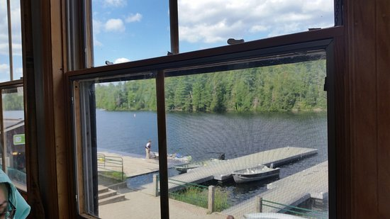 Algonquin Provincial Park, Canada: view from restaurant upstairs