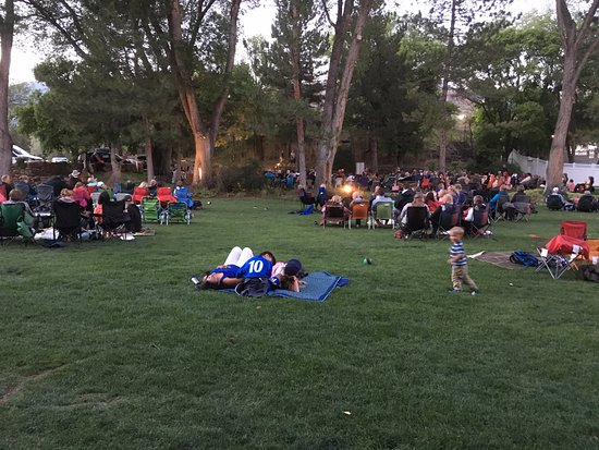 Midway, UT: free concert at the bottom of the hill