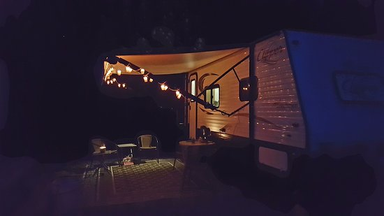 Pine Grove, PA: Our RV site at night. So peaceful
