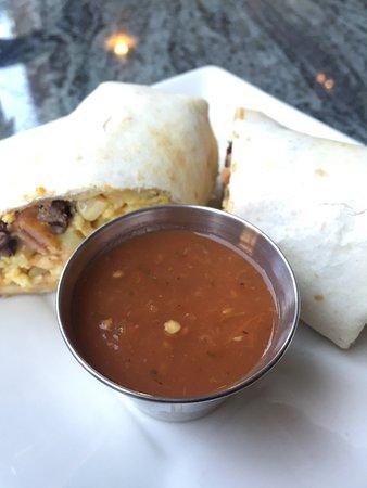 Los Gatos, Kalifornien: Bacon jalapeño burrito