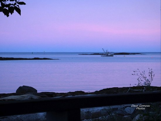 Prospect Harbor, ME: View from our front porch at sunset