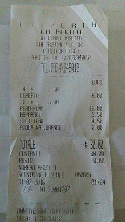 Perdifumo, Ιταλία: Pizzeria La Ruota