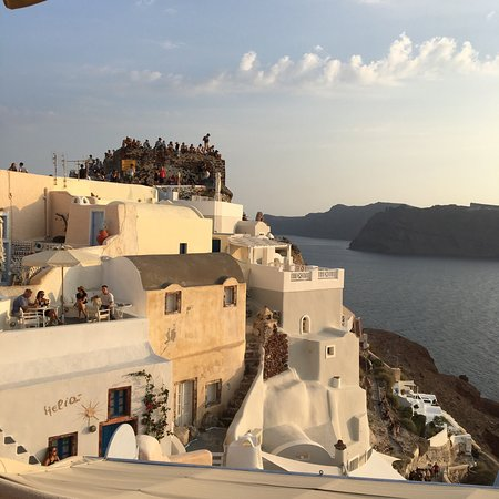 Kastro Oia Restaurant : View just before sunset