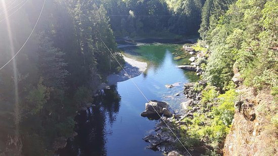 Nanaimo, Kanada: View from bungee jump bridge