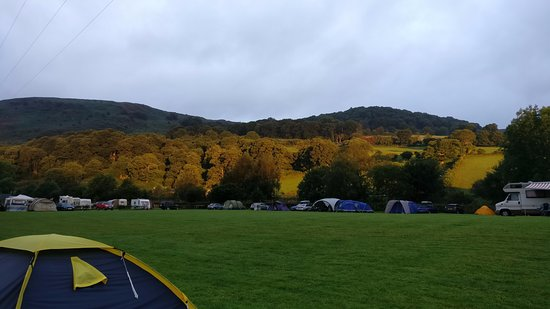Rhayader, UK: Early morning in the camping field