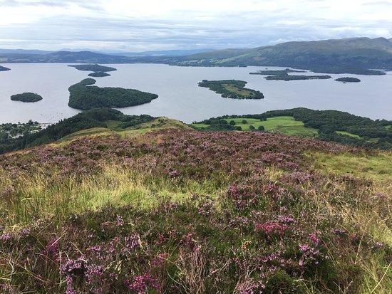 Balmaha, UK: View of Loch Lomond from Conic Hills