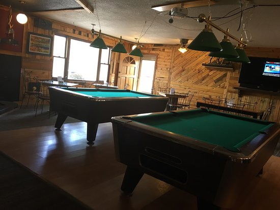 Red Feather Lakes, CO: Awesome bar area with two tvs and jukebox.   Two pool tables and foosball.