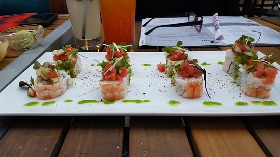 RA Sushi: Watermelon Shrimp Roll, Yummy!